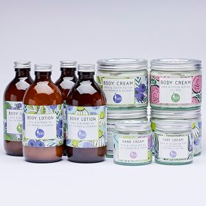 Shea butter body lotion and body creams by Laughing Bird