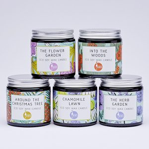 Eco soy wax candles by Laughing Bird