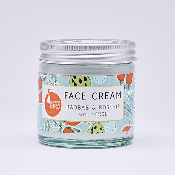 Face cream with baobab, rosehip and neroli by Laughing Bird