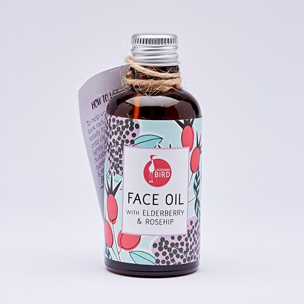 Face oil with Elderberry and Rosehip by Laughing Bird