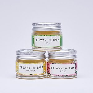 Beeswax lip balms by Laughing Bird