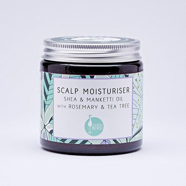 Scalp moisturiser with shea, manketti oil, rosemary and tea tree by Laughing Bird