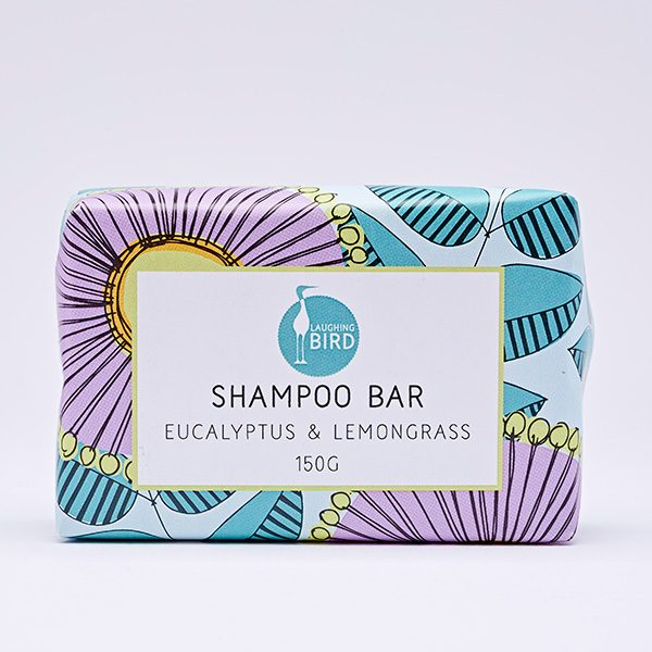Shampoo bar with eucalyptus and lemongrass by Laughing Bird