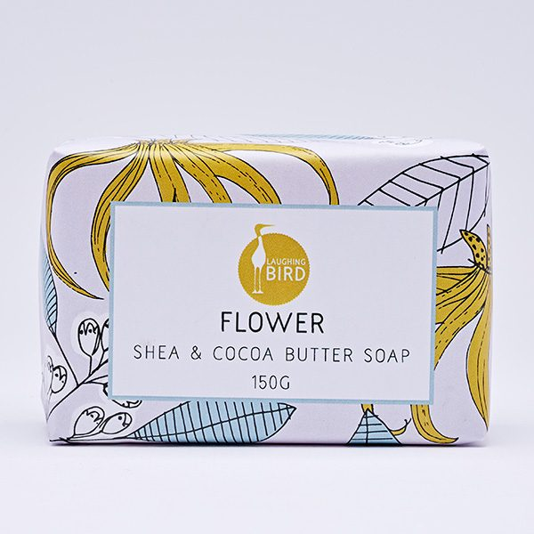 Flower shea butter and cocoa butter soap by Laughing Bird