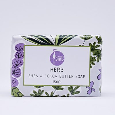 Herb shea butter and cocoa butter soap by Laughing Bird