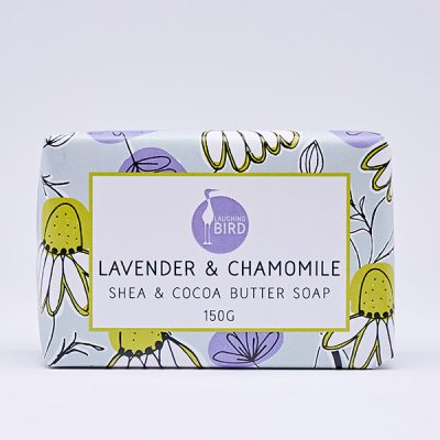 Lavender and chamomile shea butter and cocoa butter soap by Laughing Bird