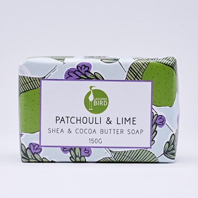 Patchouli and lime shea butter and cocoa butter soap by Laughing Bird