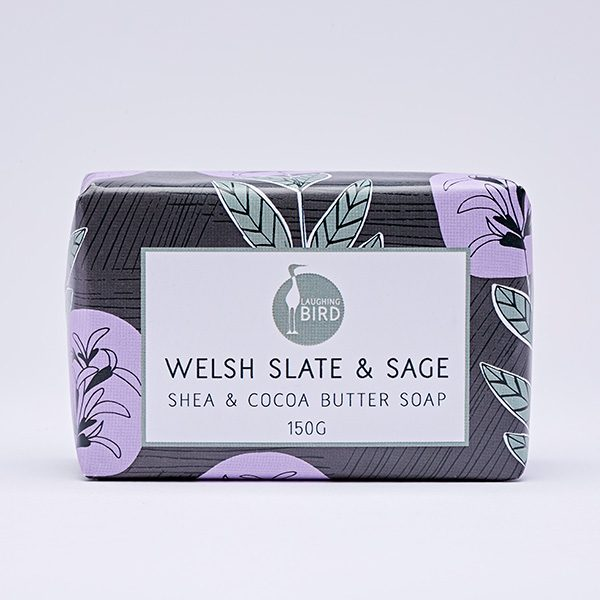 Welsh slate and sage shea butter and cocoa butter soap by Laughing Bird
