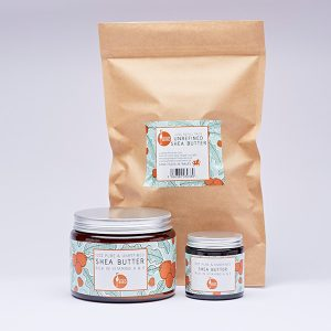 Unrefined shea butter range by Laughing Bird