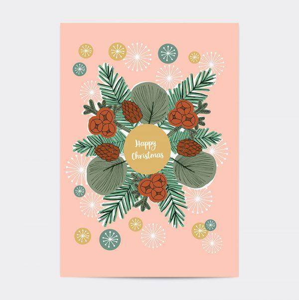 Laughing Bird Christmas card